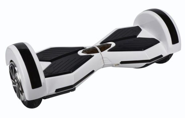 8 Inch Lamborghini Style Hoverboard , White (Bluetooth + Free Carry Bag)